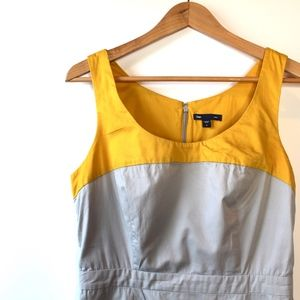 GAP | Mustard and Gray Color Block Dress